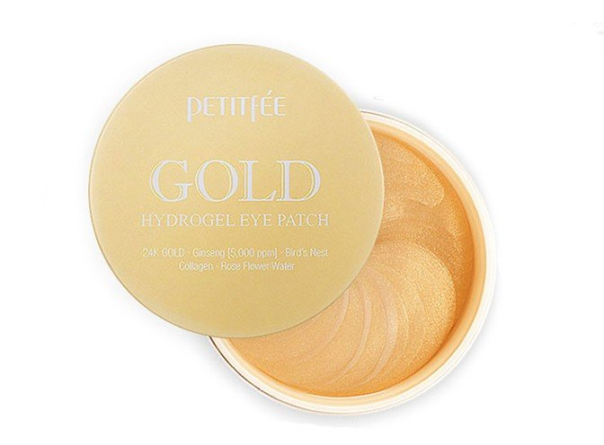 Petitfee Gold hydrogel eye patch +5 golden complex фото 1 — BEAUTYKO™ Корейская косметика в Омске + РФ